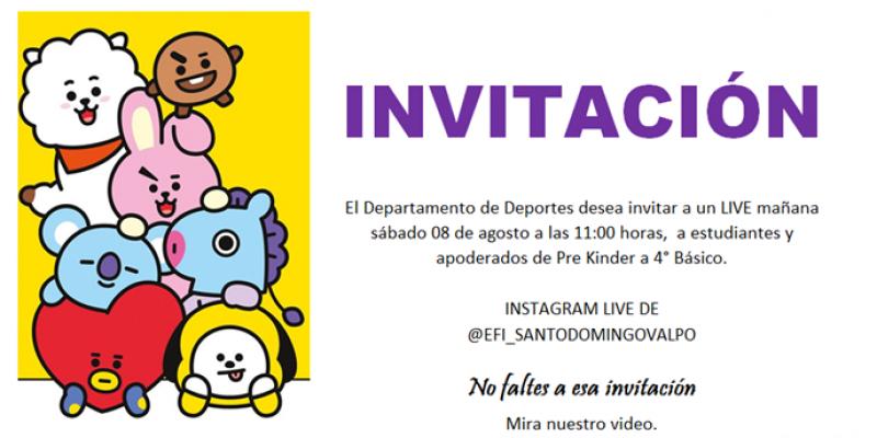 Invitación Departamento Deporte
